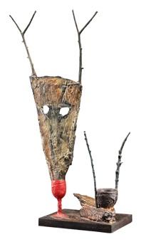 ohne titel. animalische maske by mimmo paladino