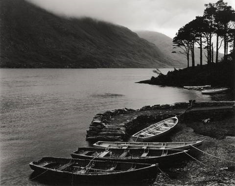 fishing boats, galway county, irland by peter gasser