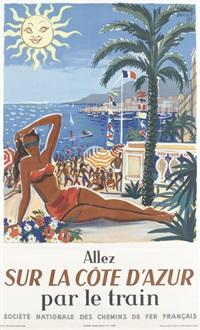 allez sur la côte d'azur (poster) by hervé baille