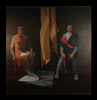 caravaggio and model by alan oldfield