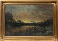scene of the rouge river by robert hopkin