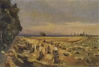 paysans battants le blé by werner hartmann
