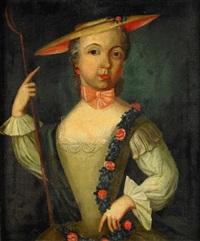 barnporträtt av catharina margareta rÿdingsvärd som herdinna med houlettstav by jöns pilo