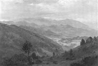 hügelige schwarzwaldlandschaft mit blick in ein tal by ludwig steininger