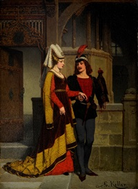 the courtship by wilhelm (guillaume) koller