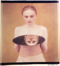 girl with mirror by joyce tenneson