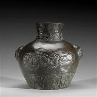 sioux motif urn by edward kemeys
