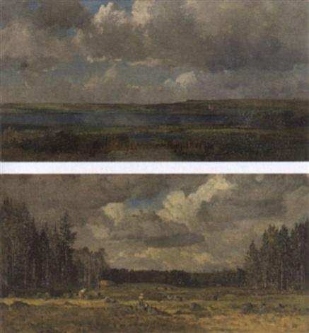 landschaft mit bewölktem himmel by max hartwig