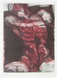 torso (portfolio of 7 w/colophon and 2 etchings) by erich smodics