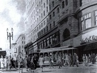 cable cars along market street by fred f. goldberg