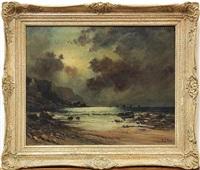 rocky seashore by w.g. webb