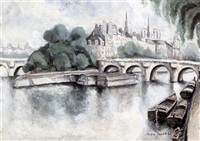 l'isle de la cite, paris by max jacob