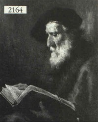 portrait of a philosopher reading by r. arnegier