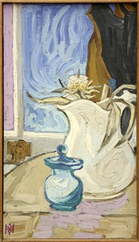 still life with pitcher by max hartstein