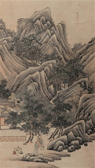 深山访友图 by liang heng