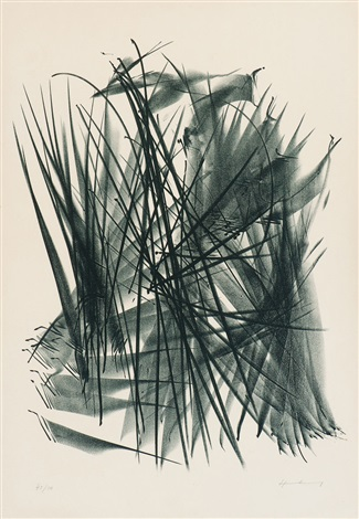 komposition mit linien by hans hartung