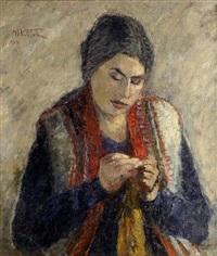 donna che lavora by umberto vittorini