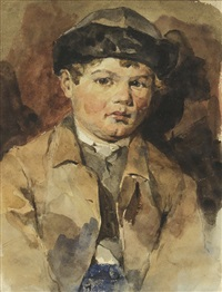 news boy by frank duveneck