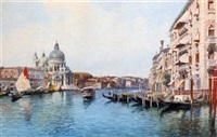 the grand canal (+ a venetian backwater; pair) by eugenio benvenuti