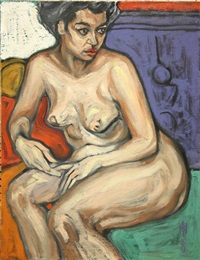 nude portrait by max hartstein