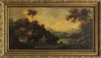 italian landscape with figures by antonio zucchi