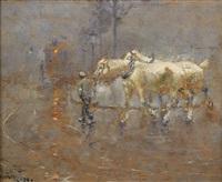 man med hästar by nils kreuger