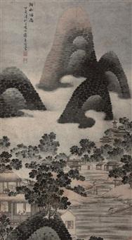 湖山烟雨 (landscape) by jiang tingzan