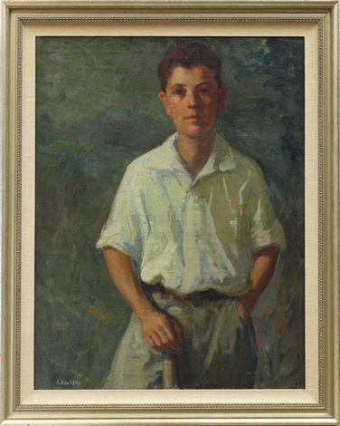 portrait of young boy by kathryn woodman leighton