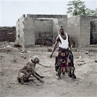 jatto with mainasara, ogere-remo, nigeria, aus gadawan kura - the hyena men series ii, 2005-2007 by pieter hugo