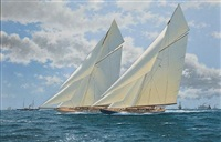 "the 1920 america's cup, ""resolute"" v. ""shamrock iv"" by terry bailey"