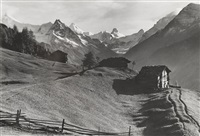 adelboden: stiegelschwand, grosslohner, tschiggelochhorn by arnold klopfenstein
