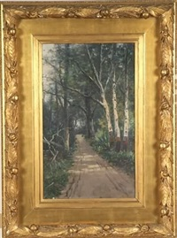 woodland landscape by william h. hillard