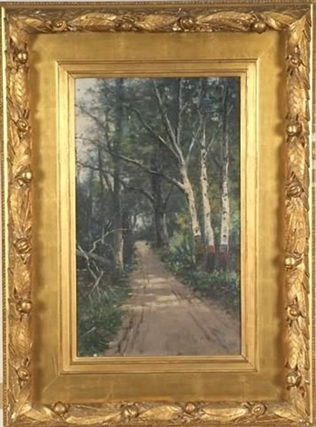 woodland landscape by william h hillard