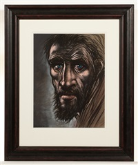 study for saint andrew by peter howson