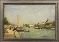 view of the seine by stanislas lépine