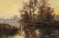 autumn landscape by marie-victor-emile isenbart