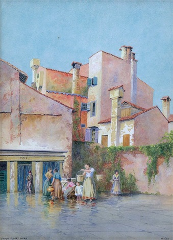 washday in venice by george elbert burr