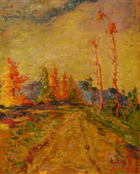impressionistic landscape by stojan aralica