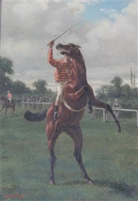 reluctant racehorses (pair) by alfred charles havell