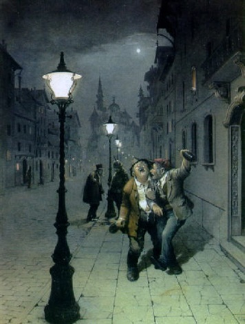 drunks in the night by victor goulard