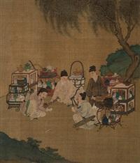 斗茶图 立轴 绢本 by qiu ying