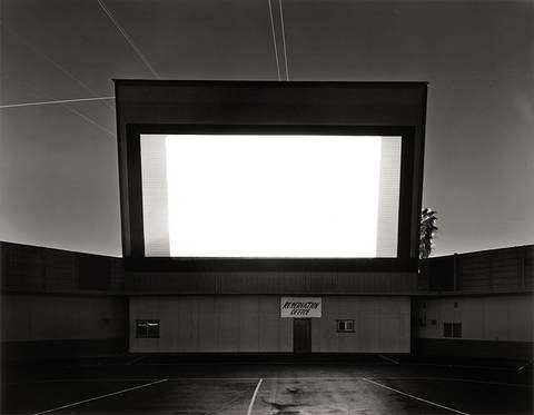 orange drive in orange from the series theaters by hiroshi sugimoto