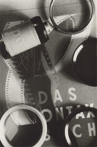 untitled (still life with book and rolls of film) by jolan vadas