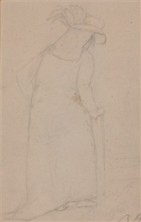bildnis der comtesse marie de courten, geborene d'odet by rené (victor) auberjonois