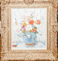 abstract still life of floral bouquet by leroy