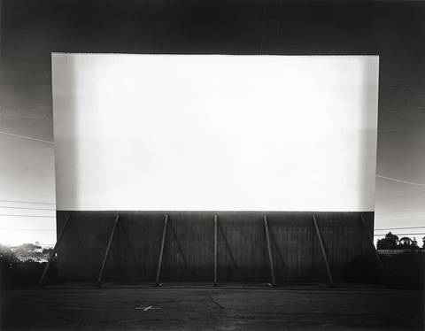 los altos drive-in, lakewood, from the series theaters by hiroshi sugimoto