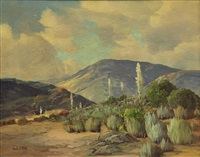 california purple mountains by george sanders bickerstaff