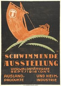 schwimmende ausstellung, vierwaldstättersee by eduard renggli the younger
