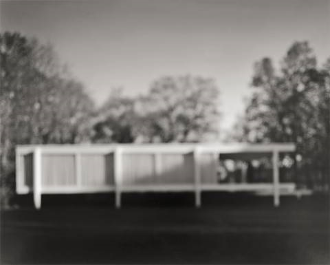 farnsworth house ludwig mies van der rohe from the series architecture by hiroshi sugimoto