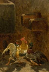 blick in eine hühnerstall by philibert leon couturier